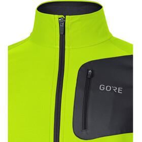 GORE WEAR R3 Partial Gore Windstopper - Chaqueta Running Hombre - amarillo/negro